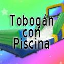 Toboganes con piscina